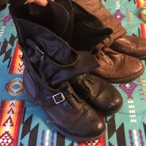 Two pairs of madden girl floppy boots!